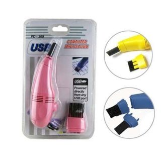 USB Mini Vacuum for Laptops Computers Keyboards Brush Suction Cleaning Tubes