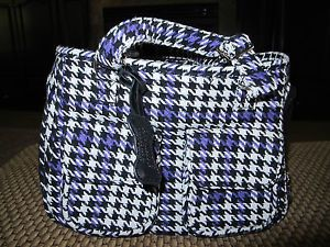 Houndstooth Pet Carrier Small Dog Sherpa Airline Tote Purse Shoulder Bag