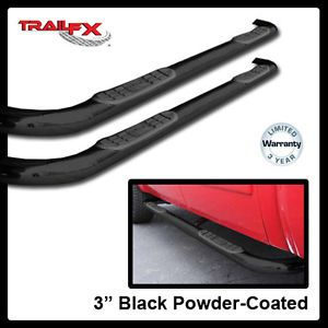 "04 11 Chevy Colorado Extended Cab 3"" Round Black Side Steps Nerf Bars"