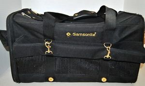 Samsonite Small Pet Dog Cat Carrier Duffle Bag Black Travel