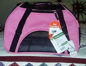 New Small Pet Dog or Cat Comfort Carrier by Bergan Pet Connect Raspberry