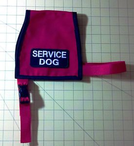 Service Dog Vest Small Adjustable Therapy Dog Red