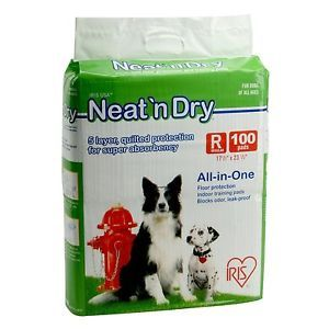 Iris Neat N' Dry Floor Protection Pee Training Pads Mats Pet Puppies Dogs New