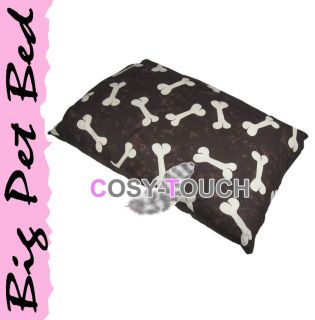 Big Pet Dog Bed Pillow Cushion Two Sizes Small XL