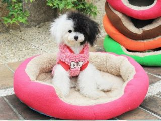 Small Medium Pet Dog Puppy Cat Soft Fleece Warm Nest Bed House Cotton Mat