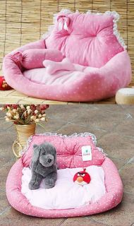 Design Princess Cute Pink Blue Pet Dog Cat Sofa Bed House