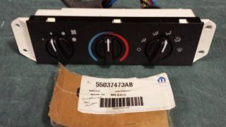 Jeep Wrangler Heat Air A C Fan Control Switch Temperature Panel