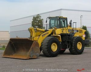 "2007 Komatsu WA500 6 7 75 Yard Wheel Loader A C Cab Ride Control 134"" Bucket"