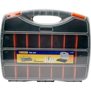 Details about NEW ORGANIZER STORAGE TOOL BOX WITH PLASTIC LID TOOLS