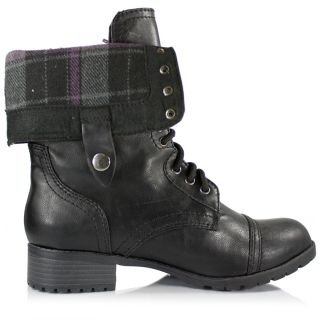 Women's Military Combat Boot Full or Foldable Cuff Riding Lace Soda Shoes Oralee