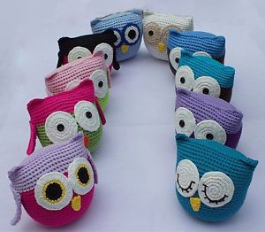 Cute Handmade Knit Owl Dolls Toys Baby Children Boys Girls Photograph 10 Color