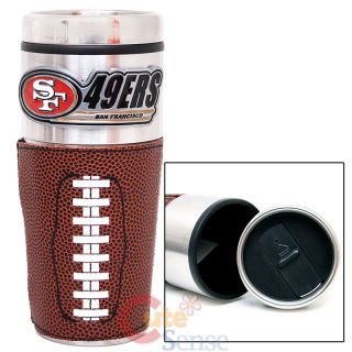 NFL San Francisco 49ers Coffee Mug Travel Tumbler Cup 16oz Stainless