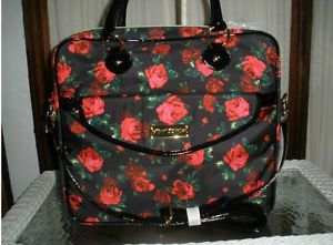 Betsey Johnson Twinkle Toes Rose Laptop Case Briefcase Computer Case Cross Body