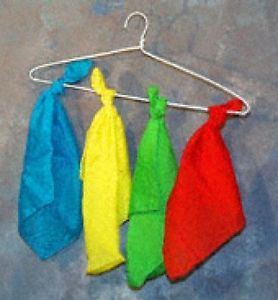 Silks Off Hanger Stage Magic Tricks Comedy Clown Kids Show Scarves Hanky Funny