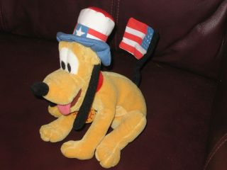 Disney Fourth of July Pluto Plush Dog USA American Flag Patriotic Adult Owner
