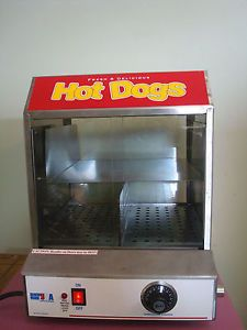 BENCHMARK 60048 The Dog Pound Hot Dog Sausage Steamer Cooker Machine Works Great