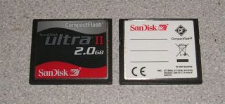QTY2 San Disk SanDisk SDCFH Ultra II 15MB s 2GB CF Compact Flash Card Module