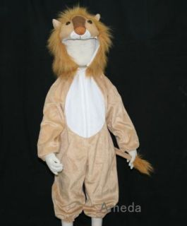 Kids Animal Costume Lion Leo King Party Outfit 6 8Y H50
