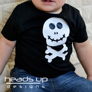 Skull Shirt Skeleton Shirt Halloween Costume Baby Toddler Boy Girl Adult Kid