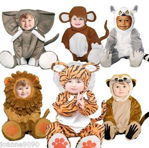 New Deluxe Boys Girls Baby Toddler Kids Zoo Animal Fancy Dress Halloween Costume
