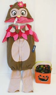 New Old Navy Owl Costume Baby Toddler Girls Kids Bird Halloween Treat Bag