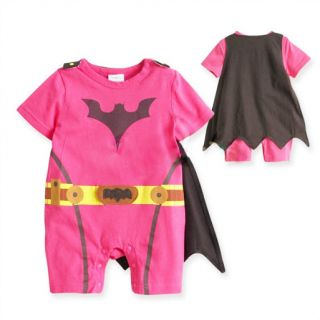 Batman Baby Girls Infant Outfit Costume Romper Hot Pink 3 18 Months