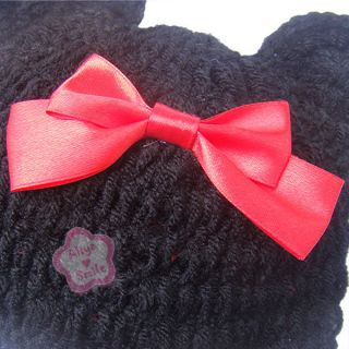 Cute Baby Girls Minnie Mouse Crochet Knit Costume Handmade Red Sz 0 12 Months