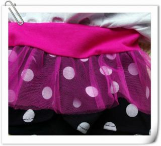 Girl Kids Sz 2 5Y Disney Minnie Mouse Costume Top Dress T Shirt Party Skirt Tutu