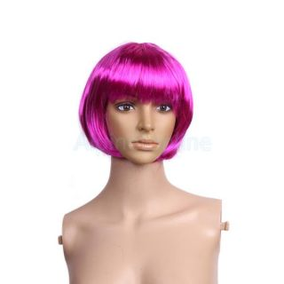 Fashional Short Bob Cut Wig Costume Cosplay Party Full Wig Fancy Dress Up