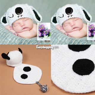 Newborn Baby Girl Boy Crochet Knit Hat Cap Costume Photography Prop Outfit ES9P