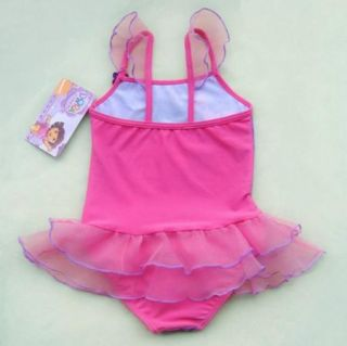 Girls Kids Princess Swimsuit 7 8Y Tankini Bikini Bathing Swimwear Costume