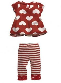 Girls Baby Kids Outfit Top Pants Stripe 2pcs Summer Set Toddler Sz 3M 3Y Costume