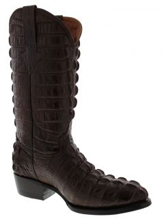 Men's Brown Leather Full Tail Crocodile Alligator Cowboy Boots Western Rodeo