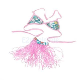 10x Pet Dog Hawaiian Bikini Hula Skirt Dance Dress Holiday Luau Party Costume