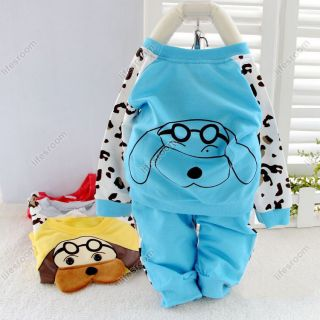 Baby Kid Toddler Boy Girl Animal Dog Suit Outfit Outwear Cloth Costume Shirt Set