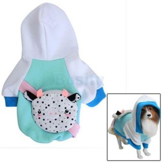 Pet Dog Hoodie Hooded Coat Clothes Jacket Costume Apparel Clothing with Backpack