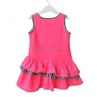 Girl Kid Fancy Minnie Mouse Sleeveless Ruffle Top Dress Costume Ages 1 5 Years