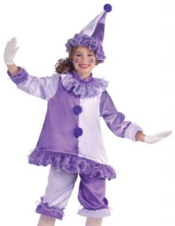 Kids Purple Harlequin Outfit Girls Clown Halloween Costume
