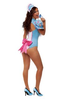 Sexy Women Adult Western Cry Baby Girl Outfit Doll Fancy Halloween Costume