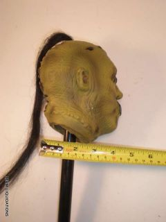 "42"" Disguise Skull Staff Eyes Mouth Sewn Shut Man Halloween Scary Samurai"