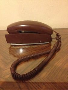 Western Electric at T Trimline Corded Wall Phone Chocolate Brown