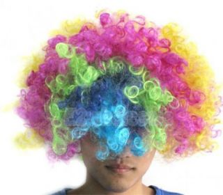 4X Multi Coloured Clown Halloween Costume Party Hair Wig
