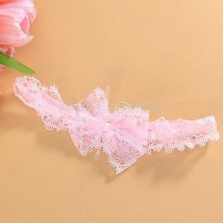 Baby Girl Lace Headband Hair Bow Head Band Photo Prop
