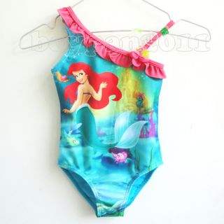Kids Girls Princess Ariel Mermaid Swimwear Swimsuit Bather Costumes AGE3 4Y
