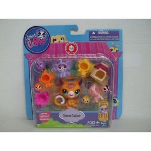 Littlest Pet Shop LPS Friends Mix Match Costumes Sweet Safari Jaguar Elephant