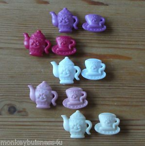 Novelty Buttons Tea Pot Cup Dolls Baby Kid's Clothing Knitting Sewing