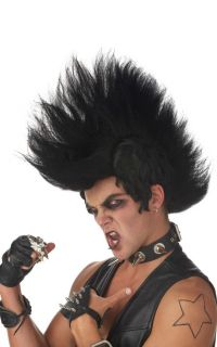 Monster Mohawk Halloween Costume Wig Black 70467