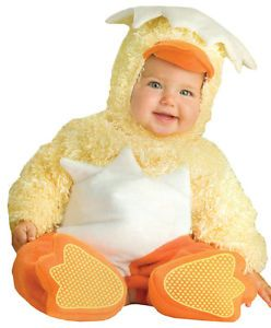 Lil Chickie Infant Toddler Baby Costume Yellow Animal Safari Halloween Party