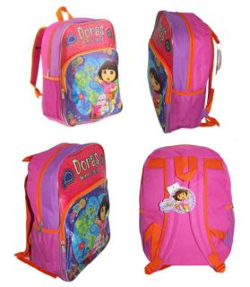 "Dora The Explorer School Kids Large 16"" Backpack Bag"