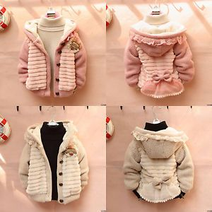 Toddler Baby Girl Long Sleeve Cardigan Warm Jacket Knit Sweater Clothes Outwear